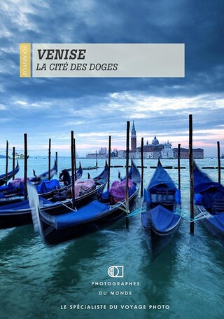 Couverture carnet de voyage photo Venise avec Antonio Gaudencio