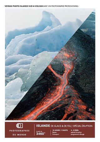 Couverture carnet de voyage photo Islande Sud volcan avec Gregory Gerault