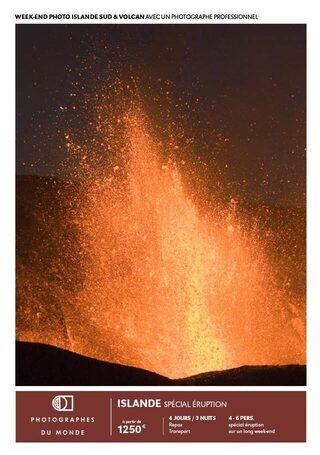 Couverture carnet de voyage photo Islande Sud volcan le temps d'un week end avec Gregory Gerault