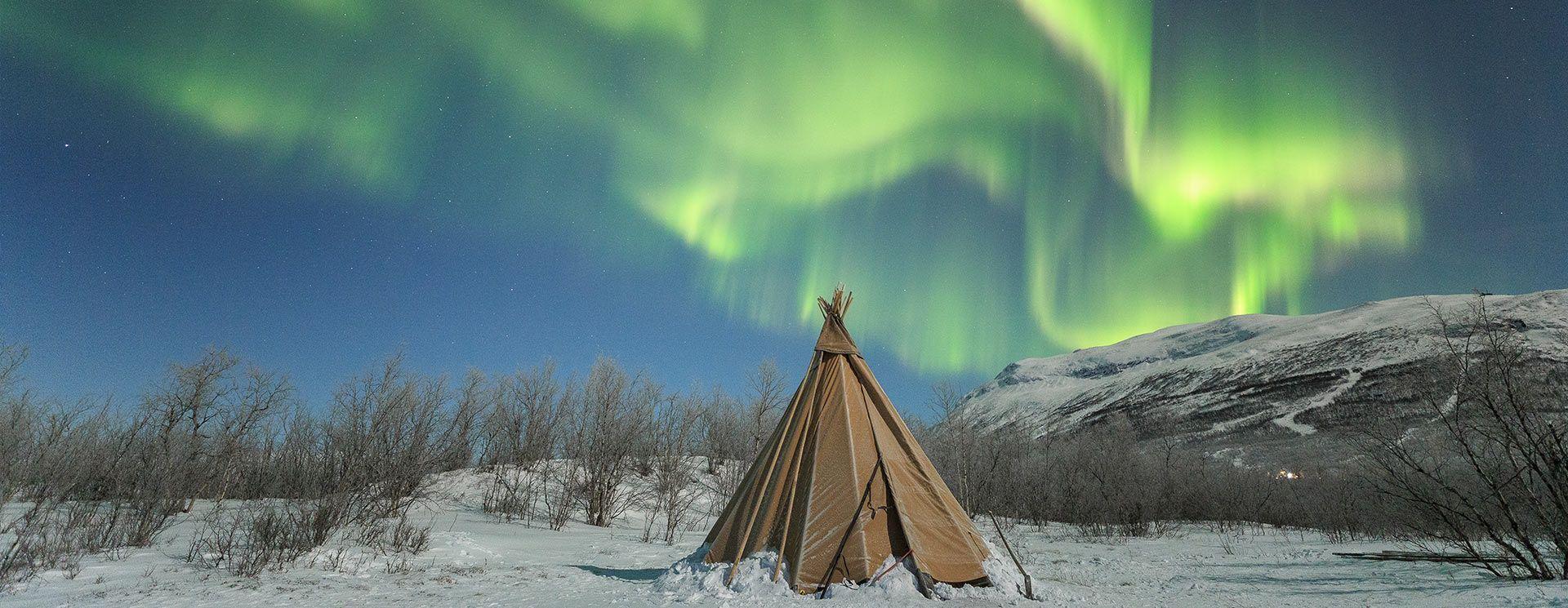 Norvége Laponie aurores boréales